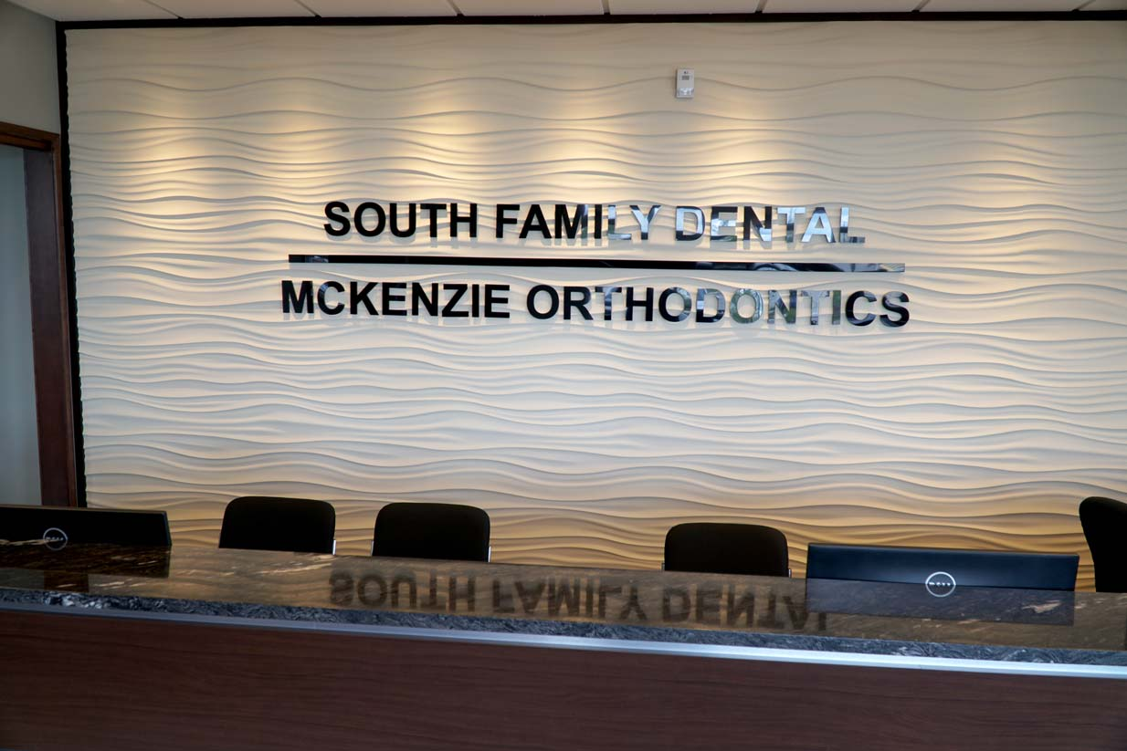 South Calgary Orthodontist | McKenzie Orthodontics Reception Desk